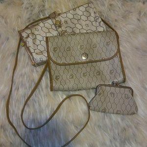 Vintage Christian Dior Honeycomb MM print Bag Set